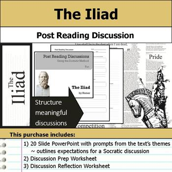 The Iliad - Socratic Method - Post Reading Discussions
