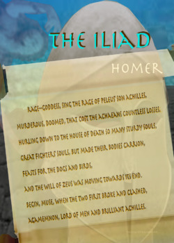 The Iliad scroll text/image
