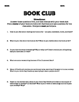 The Illustrated Man Book Club