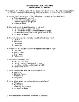 The Illustrated Man Prologue - Comprehension Questions