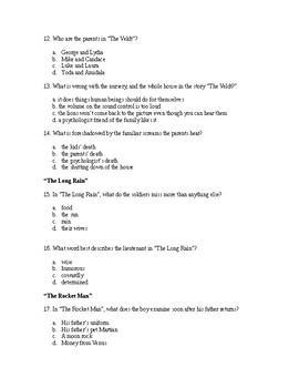 The Illustrated Man Test/Quiz