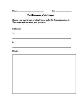 The Illustrator of the Lesson Worksheet