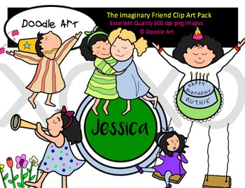 The Imaginary Friend Clipart Pack
