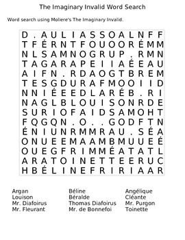 The Imaginary Invalid Wordsearch