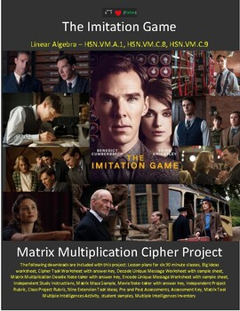 The Imitation Game - Project Based Learning with Linear Algebra