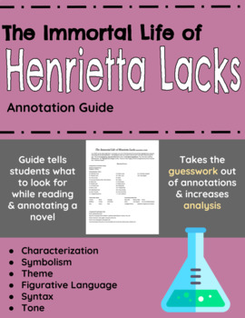 The Immortal Life of Henrietta Lacks Annotation Guide