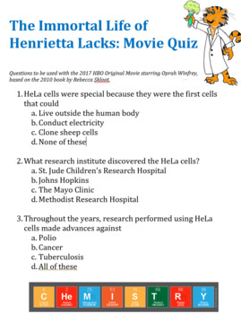 The Immortal Life of Henrietta Lacks: HBO Movie Questions (Oprah)