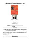 The Immortal Life of Henrietta Lacks Unit Plan Part 1 Chap
