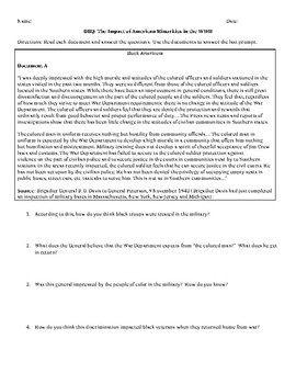 The Impact of American Minorities in the WWII - DBQ