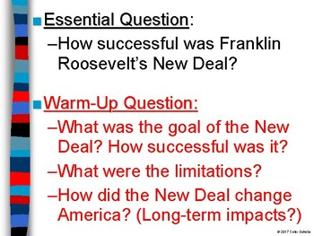 The Impact of FDR's New Deal