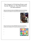The Impact of Printing Press and Social Media on The Distribution of Information