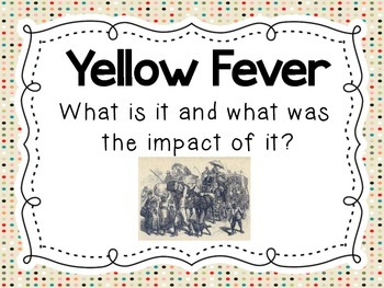 The Impact of Yellow Fever on Tennessee An Introductory lesson and activity 5.26