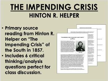 """""""The Impending Crisis"""" - Hinton Helper - Antebellum America - USH/APUSH"""