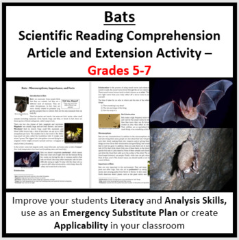 The Importance of Bats - Science Reading Article - Grades 5-7