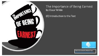 The Importance of Being Earnest (0) Introduction to the Text