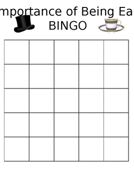 The Importance of Being Earnest Bingo (review)