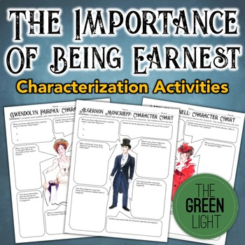The Importance of Being Earnest Characterization Activity, Worksheets