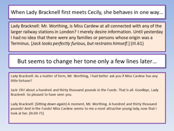 The Importance of Being Earnest - Key Quotes