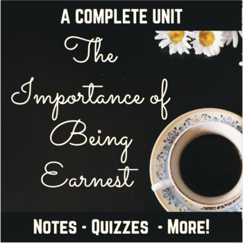 The Importance of Being Earnest Quizzes and Seminar Questions