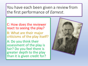 The Importance of Being Earnest - Quotes Analysis
