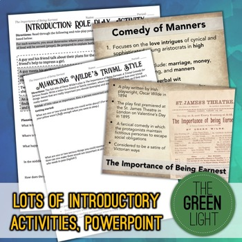 The Importance of Being Earnest Unit Bundle: Worksheets, Activities