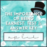 The Importance of Being Earnest Unit Test