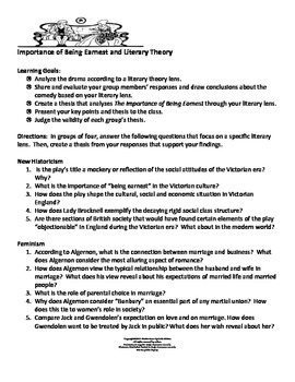 The Importance of Being Earnest and Literary Theory