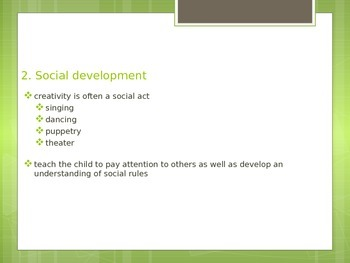 The Importance of Creativity for FACS Child Development or Child Guidance