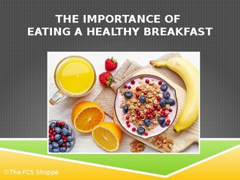 The Importance of Eating a Healthy Breakfast
