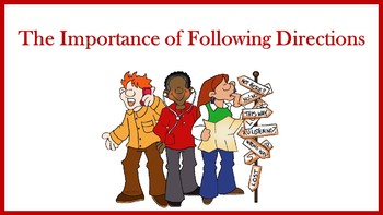 The Importance of Following Directions Lesson