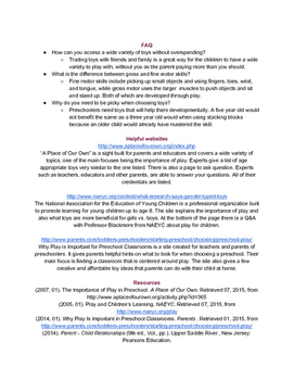 The Importance of Play handout