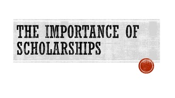 The Importance of Scholarships Lesson