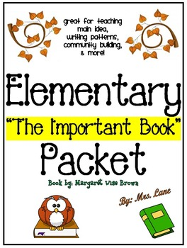 """Elementary """"The Important Book"""" Packet"""