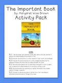 The Important Book (By Margaret Wise Brown) Activity Pack