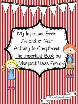 The Important Book End of Year Activity