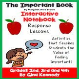 """The Important Book"" Interactive Notebook Reading Responses and Activities"