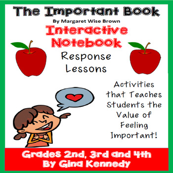 """""""The Important Book"""" Interactive Notebook Reading Response"""