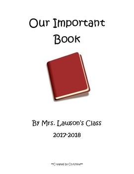 The Important Book - Modeled Writing Activity