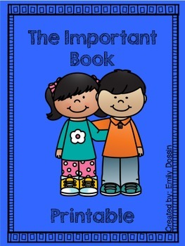 The Important Book Printable