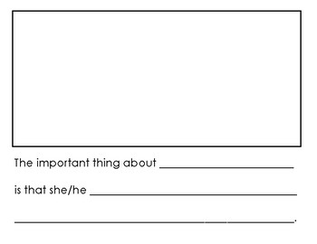 The Important Book sentence frames (early primary)