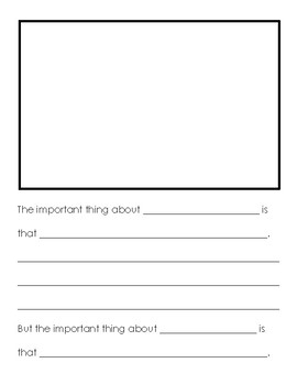 The Important Book sentence frames (later primary-early intermediate)