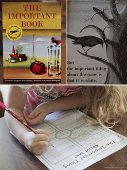 The Important Book {writing activities}
