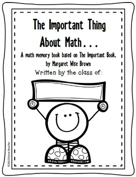 The Important Thing About Math Poetry Book