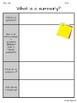 The Important Thing About Summarizing Informational Texts Resource Pack CCSS
