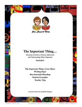 The Important Thing:  Identifying the Main Idea