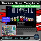The Imposter is Among Us EDITABLE Review Game Google Slide