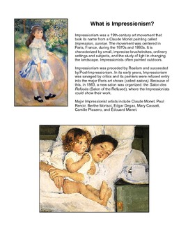 The Impressionists -- an art set of 42 works by 7 major artists