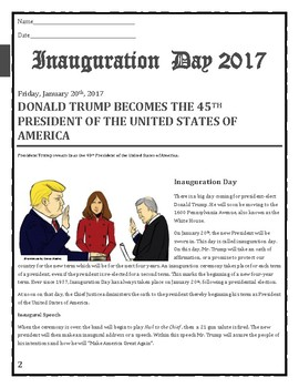 The Inauguration of DonaldTrump