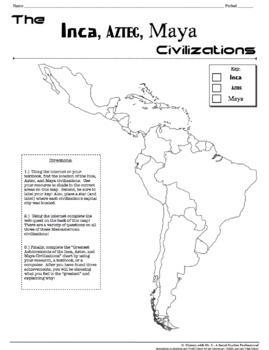 Inca, Aztec, and Maya Civilizations!  A Webquest Over Mesoamerica!