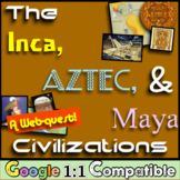 Inca, Aztec, and Maya Civilizations!  A Webquest Over Mesoamerica!
